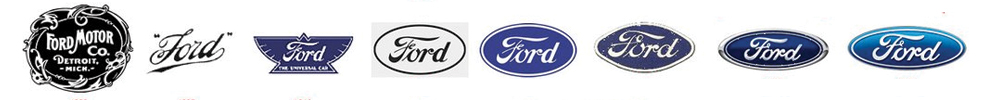 History of Ford logos