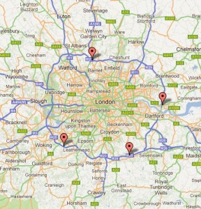 There are just four service stations on the M25