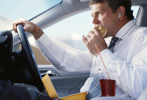 Don't eat and drive