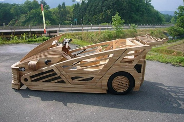 Japanese Wooden Supercar