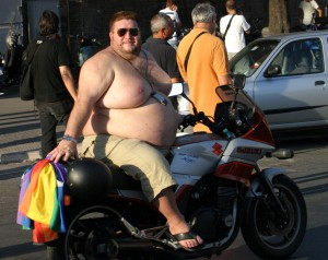 shirtless motorbike
