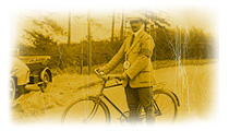 An AA man with his bicycle