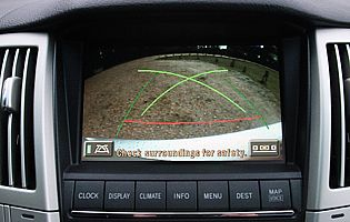 picture of lexus rx300 reversing camera display
