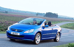 picture of peugeot 307 cc from the front