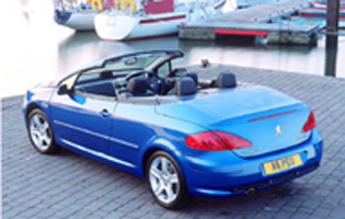 picture of peugeot 307 cc with roof open