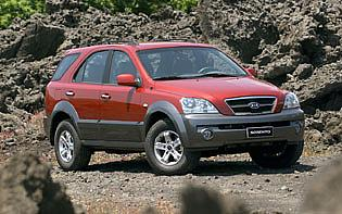 picture of kia Sorento from the front