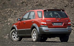 picture of kia Sorento from the rear