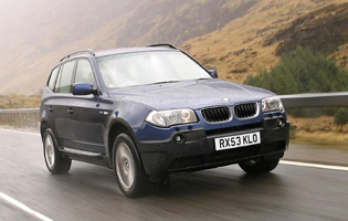 Picture of bmw x3 from the front