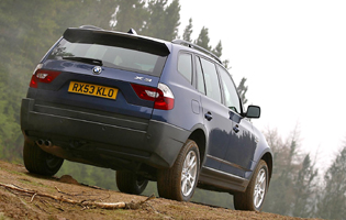 Picture of bmw x3 from the rear