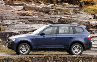 Picture of bmw x3 from the side