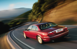 picture of jaguar s-type in action