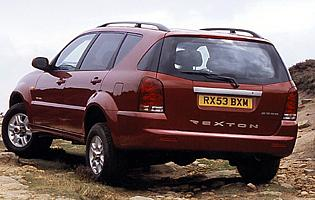 picture of ssangyong Rexton from the rear
