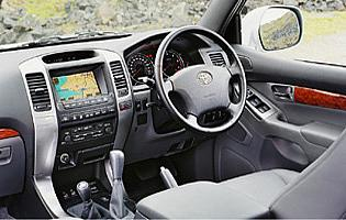 picture of Toyota land cruiser interior