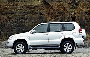 picture of Toyota land cruiser from the side