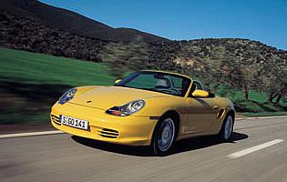 picture of Porsche boxster from the front