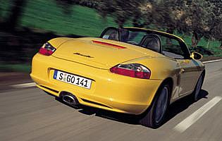 picture of Porsche boxster from the rear
