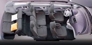 picture of mitsubishi grandis seating