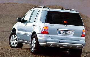 picture of M-Class on the road from rear