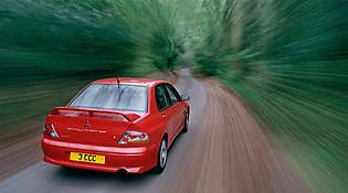 picture of mitsubishi lancer from the rear