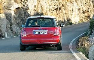 picture of mini cooper from the rear