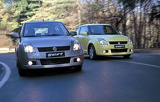 picture of two suzuki swifts
