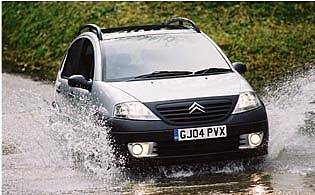 picture of car in water splash
