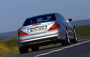 picture of Mercedes s-class from the rear