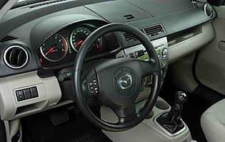picture of mazda 2 steering wheel and dash