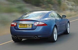 picture of jaguar xk from the rear