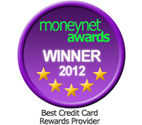 Moneynet Awards 2012 Best Credit Card Rewards Provider