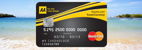 AA Travel Currency Card
