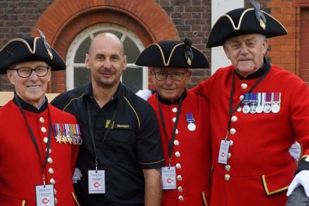 Chelsea Pensioners ready for the Centenary Parade