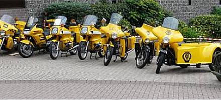 Some of the AA's collection of motorcycles