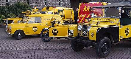 Some of the AA's extensive collection of historic breakdown vehicles