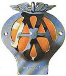 Domed car badge