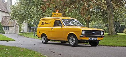 Powered by a 1300cc petrol engine, the Escort van provided extremely basic accommodation