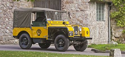 The AA bought its first Land Rovers in 1948 for use on night breakdown work in London