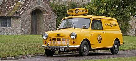 The AA began using Minivans in 1962, and by 1965 they were the standard issue patrol vehicle