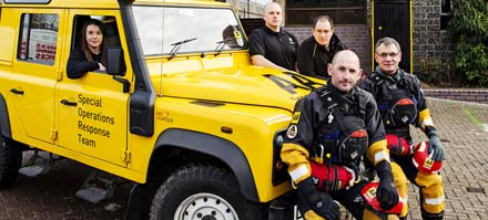 AA assists a flood-stricken motorist