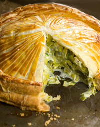 Leek and cheese pithivier