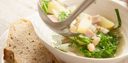 Spring Green Ham Broth