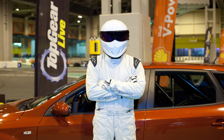 See the Stig behind the wheel