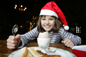Warwick Castle breakfast with Santa