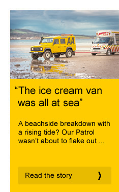 """The ice cream van was all at sea"""