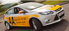 An AA driving school car