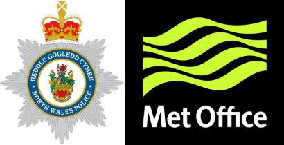 North Wales Police & Met Office logos