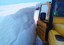 Snowdrift taller then our SORT Land Rover