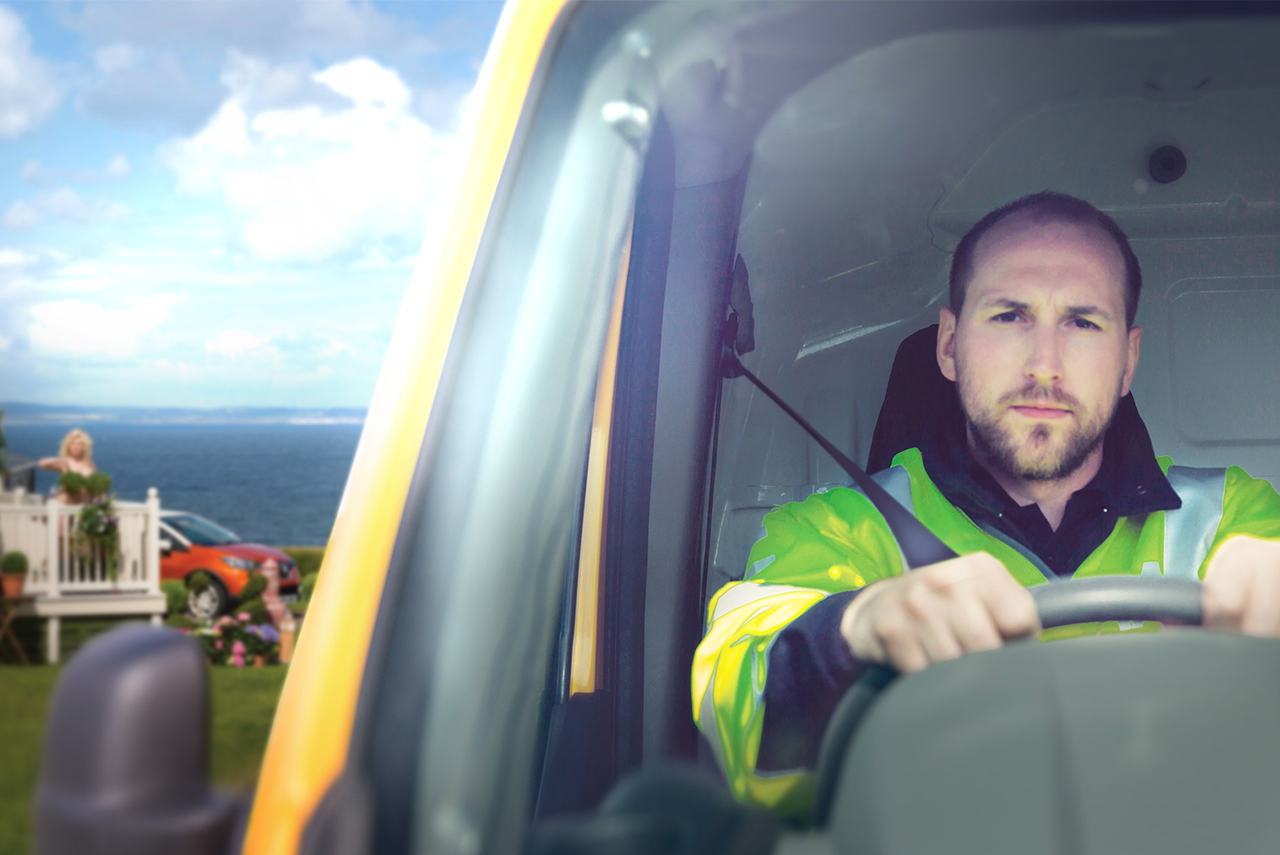 One of the AA patrols who stars in our new TV advert