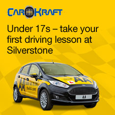 Under CarKraft. 17s – take your first driving lesson at Silverstone