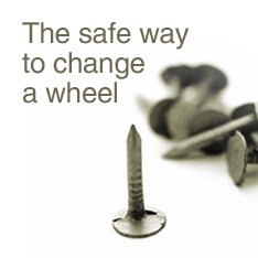 The safe way to change a wheel